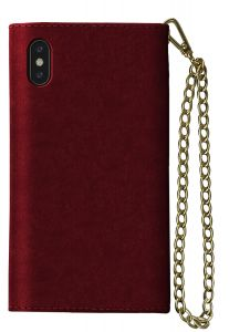 iDeal of Sweden Mayfair Clutch iPhone Xs Max Velvet Red