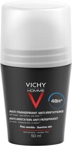 Vichy Homme 48h Anti-Irritation Roll-on Deodorant (50mL)