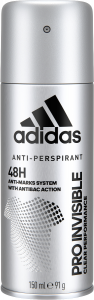 Adidas Pro Invisible Anti Perspirant Spray for Him (150mL)