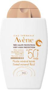 Avene Tinted Mineral Fluid SPF50 (40mL)