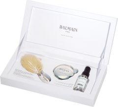 Balmain Luxurious Silver Spa Brush Mini Boarhair & Silver Mirror