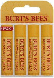 Burt's Bees Beeswax Lip Balm 4 Pack