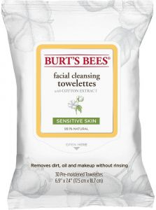 Burt's Bees Facial Cleansing Towelettes with Cotton Extract (30pcs) Sensitive Skin
