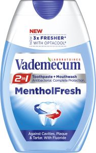 Vademecum 2in1 Toothpaste+Mouthwater Mentol Fresh (75mL)
