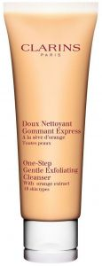 Clarins One-Step Gentle Exfoliating Cleanser with Orange Extract (125mL) All skin types