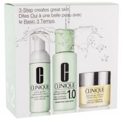 Clinique 3-step Skin Care System 1,2 for Very Dry to Dry Combined Skin