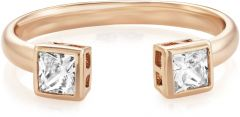 Buckley London Central Princess Open Ring CZR502S