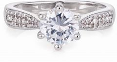 Buckley London 6 Claw Solitaire Ring CZR523L