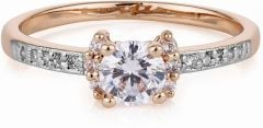 Buckley London Tt Rose Gold Solitaire Ring CZR525M