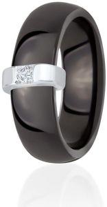 Dondella Black Ceramic And 925 Silver Ring Size 17.75 CJT3-1-R-56