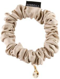 Dondella Luxury Silk Beige Scrunchie  HSC1-J-S