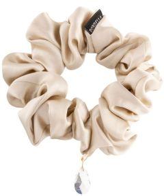 Dondella Luxury Silk Beige Scrunchie HSC3-J-M