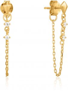 Ania Haie Gold Spike Chain Stud Earrings
