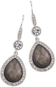 Buckley London Brown Shell Pear Drop Earrings E2144