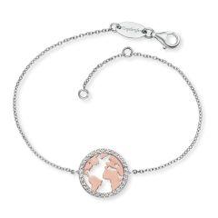 Engelsrufer Bracelet World Silver Bicolor with Zirconia