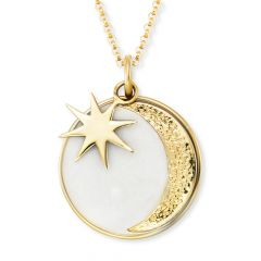 Engelsrufer Necklace Sun, Moon & Star Gold With Enamel