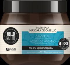 Hello Nature Hair Mask Argan Oil Regeneration & Beauty (250mL)