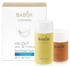 Babor Hy-öl & Phytoactive Hydro Base Cleansing Set for Dry Skin Type (50mL+30mL)