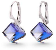 Spark Silver Jewelry Earrings Cube Bermuda Blue