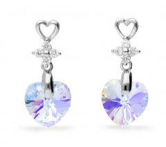 Spark Silver Jewelry Earrings Petite Heart Aurore Boreale