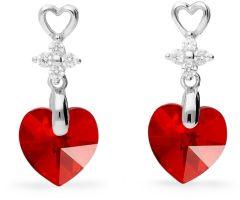 Spark Silver Jewelry Earrings Petite Heart Light Siam