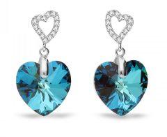 Spark Silver Jewelry Earrings Tender Heart Bermuda Blue