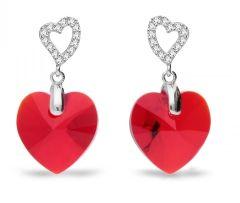 Spark Silver Jewelry Earrings Tender Heart Light Siam