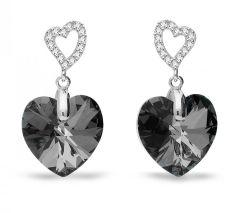 Spark Silver Jewelry Earrings Tender Heart Silver Night