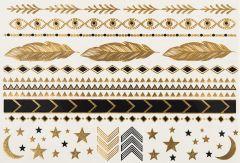 Lulu DK Pop Tats: Boho Gold/Black