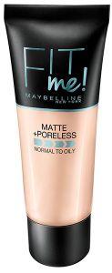 Maybelline New York Fit Me! Matte & Poreless Liquid Foundation (30mL)