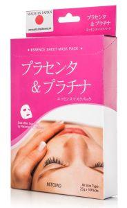 Mitomo Placenta & Platinum Essence Mask (10pcs)