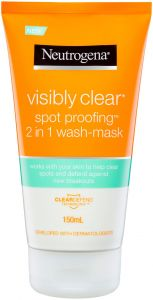 Neutrogena Visibly Clear Spot Proofing 2 In 1 Wash-Mask (150mL)