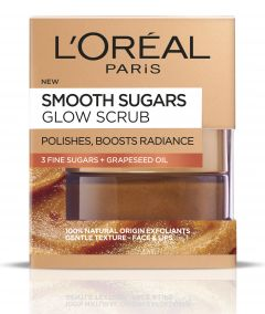 L'Oreal Paris Smooth Sugars Glow-Enhancing Sugar Scrub (50mL)