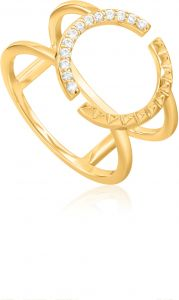 Ania Haie Gold Spike Double Ring