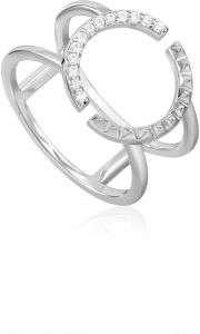 Ania Haie Silver Spike Double Ring