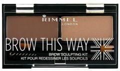 Rimmel London Brow This Way Eyebrow Sculpting Kit (1,41g)