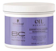 Schwarzkopf Professional Bonacure Oil Miracle Barbary Fig Oil & Keratin Restorative Mask (500mL)