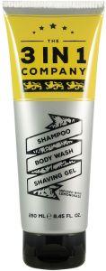 The 3in1 Company Shampoo, Body Wash, Shaving Gel (250mL)