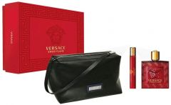 Versace Eros Flame EDP (100mL) + EDP (10mL) + Cosmetic Bag