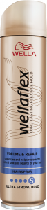 Wella Wellaflex Volume&Repair Ultra Strong Hairspray (250mL)